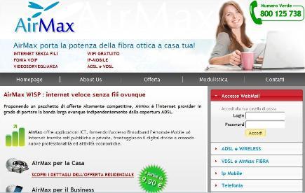Air Max offre internet gratis nel centro di Lipari