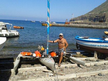 Baldanza in kayak da Malfa a Capo d'Orlando