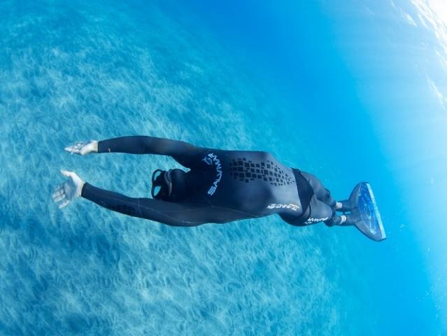 SALINA: Davide Carrera tenta record mondiale di apnea