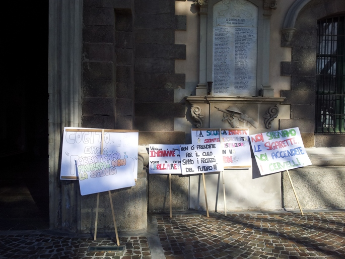 Lipari: manifestazione degli studenti