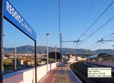 A Reggio Aeroporto con stazione ferroviaria