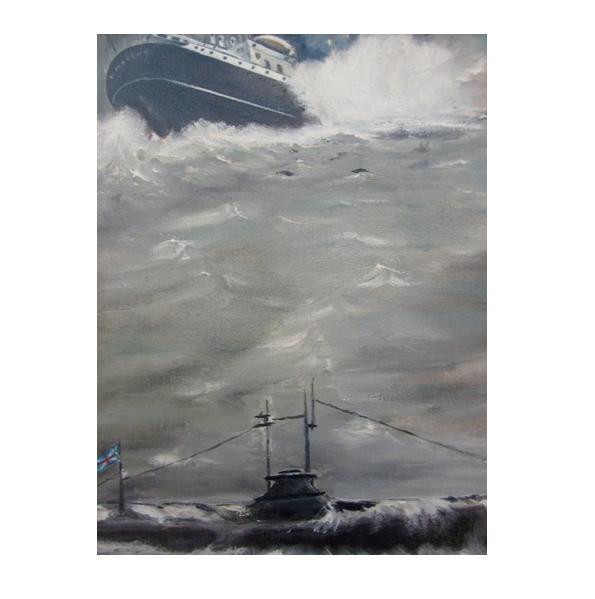 Affondamento Santa Marina, il dipinto