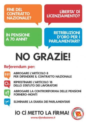 Lavoro, pensioni, Casta: raccolta firme a Lipari