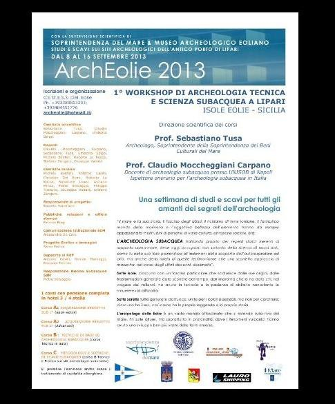 1° workshop di archeologia subacquea