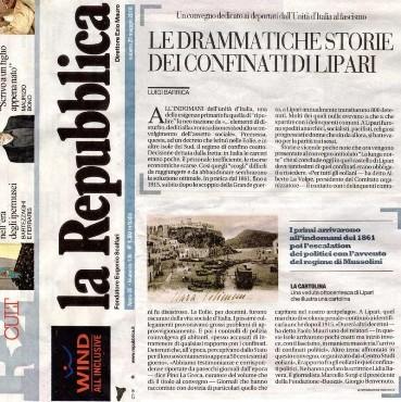"""Le testimonianze del confino su """"Repubblica"""""""
