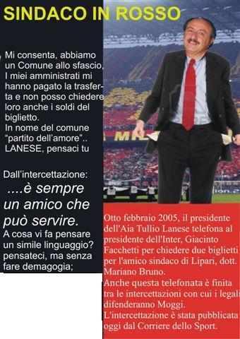 Calciopoli, il fotomontaggio di Piero Roux
