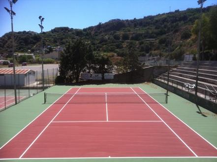 Il nuovo campo da tennis di Lipari