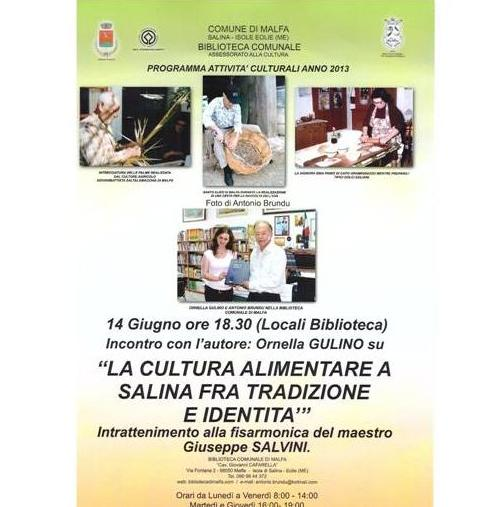 """ La cultura alimentare a Salina """