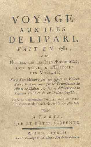 Voyage aux iles de Lipari Fait en 1781