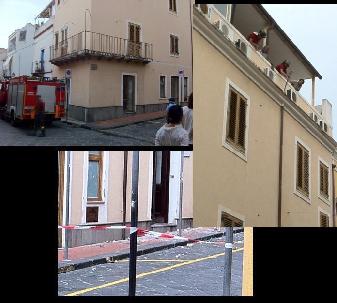Messo in sicurezza cornicione palazzo ex Sindaco