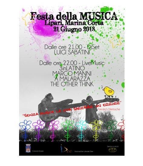 """Il 21 giugno """" Festa della Musica"""" a Lipari"""