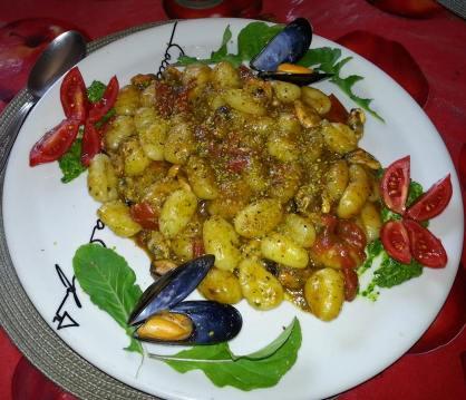 Gnocchi rucola e cozze ( di Gianfranco Taranto)