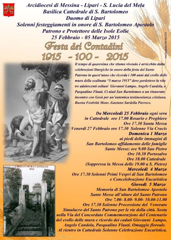 San Bartolo dei Contadini: centenario del crollo delle mura e ricordo dei caduti