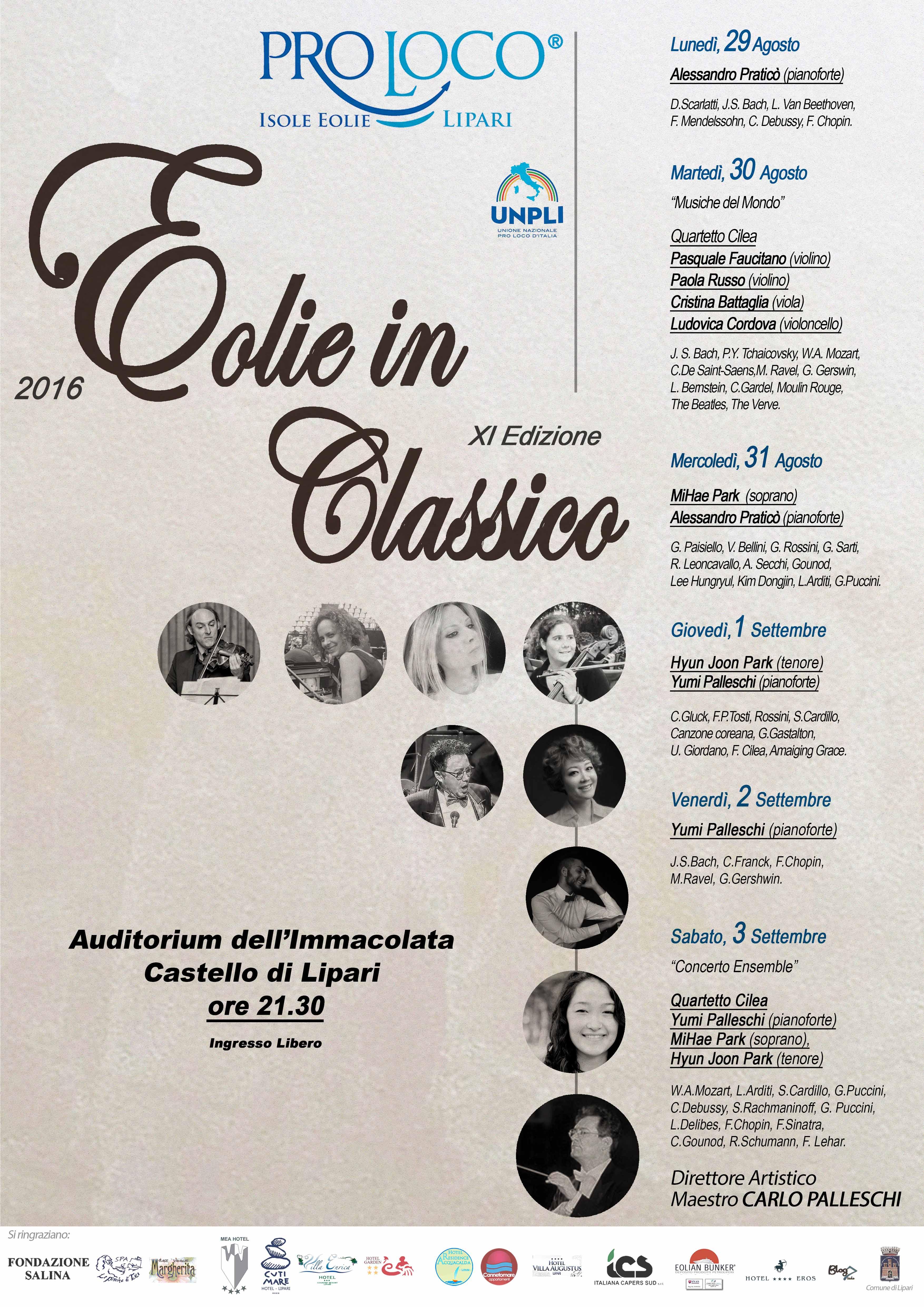 Eolie in Classico: al via la rassegna di musica classica dell'arcipelago  1° Parte