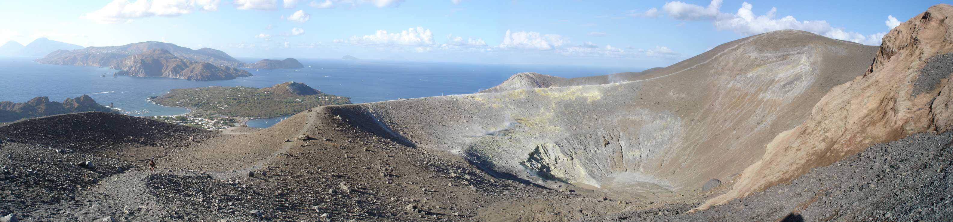 Escursioni sul gran cratere di Vulcano