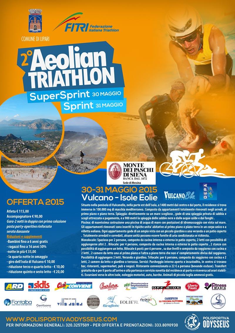 2° Aeolian Triathlon - Isola di Vulcano. Iniziano i preparativi