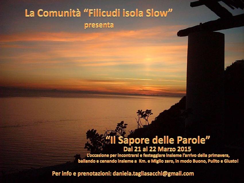 """Filicudi Isola Slow presenta: """"Il Sapore delle Parole"""""""