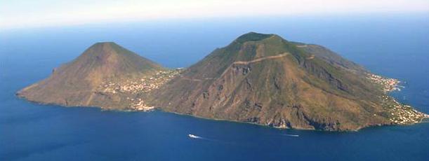 I vulcani dell'Isola di Salina