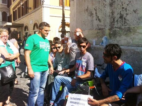 Morganti (Eld) oggi a Roma con i fratelli Biviano