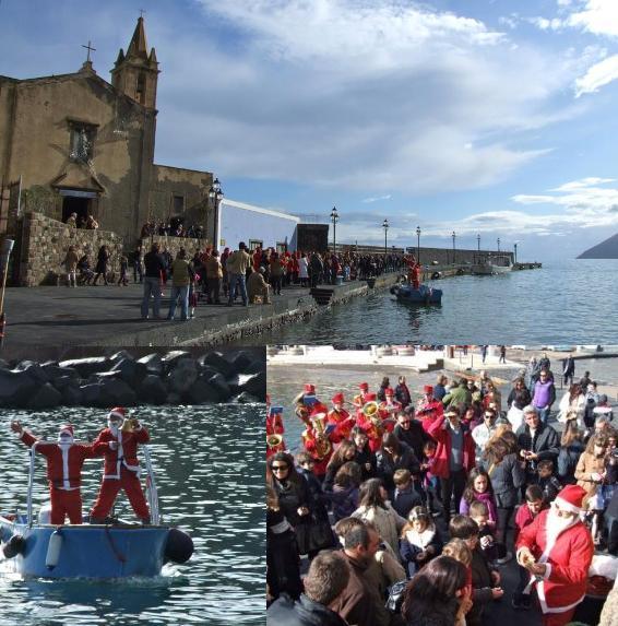 A Lipari Babbo Natale viene dal mare