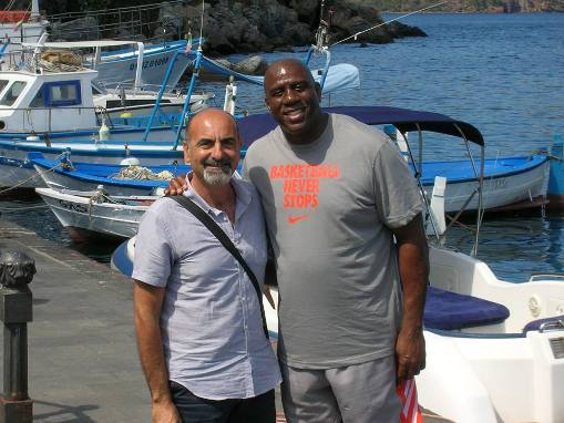 Il grande Magic Johnson a Lipari