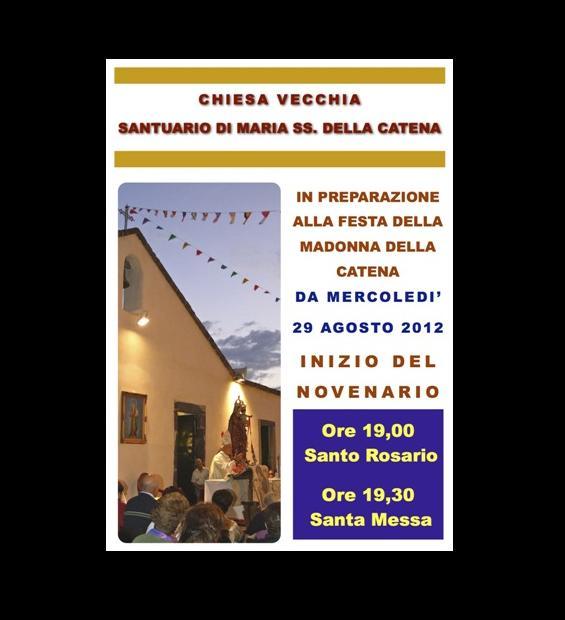 Madonna della Catena, inizia il novenario