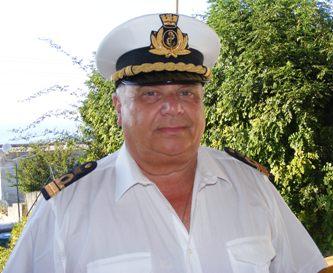 Il comandante Paino in pensione