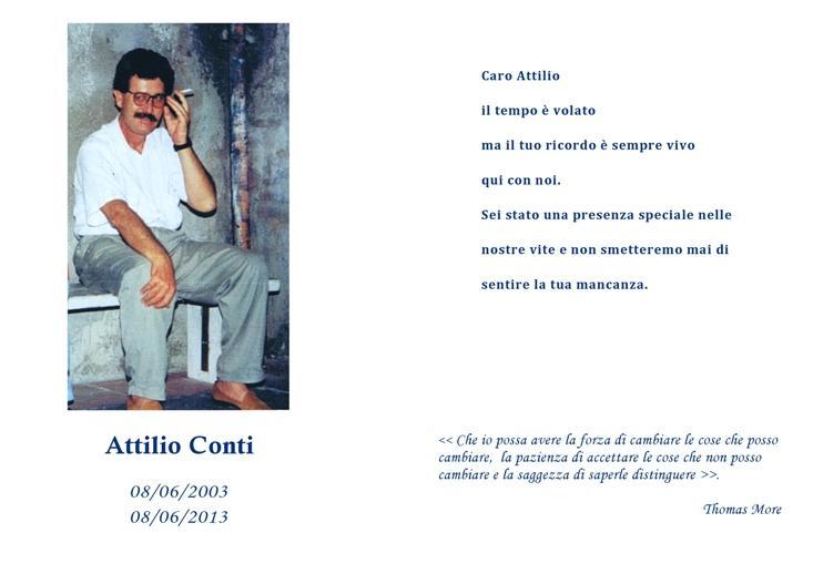 In ricordo di Attilio Conti