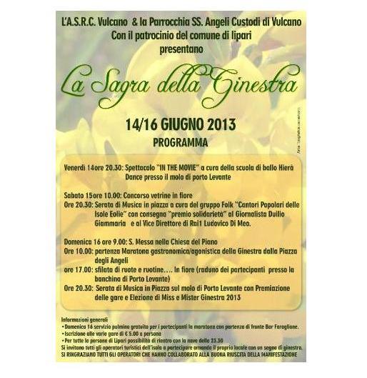 """Vulcano, week end con la """"Sagra della Ginestra"""""""