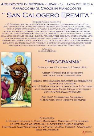 """A Lipari la festa di """"San Calogero Eremita"""""""