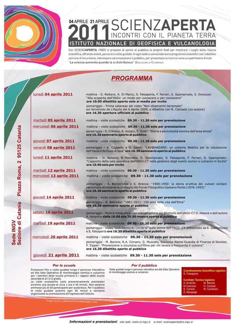 """L'Ingv di Catania organizza """"Scienzaperta"""""""
