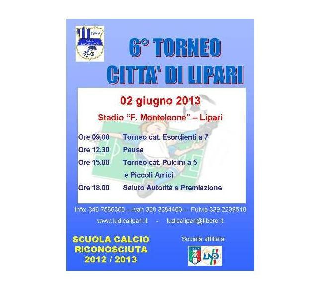 """Sesta edizione del torneo """"Città di Lipari"""""""