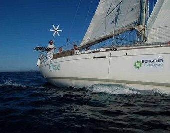"Alle Eolie la barca ""Verde come Vela"""