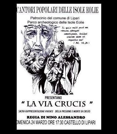 """Domenica """" La Via Crucis """" a Lipari"""