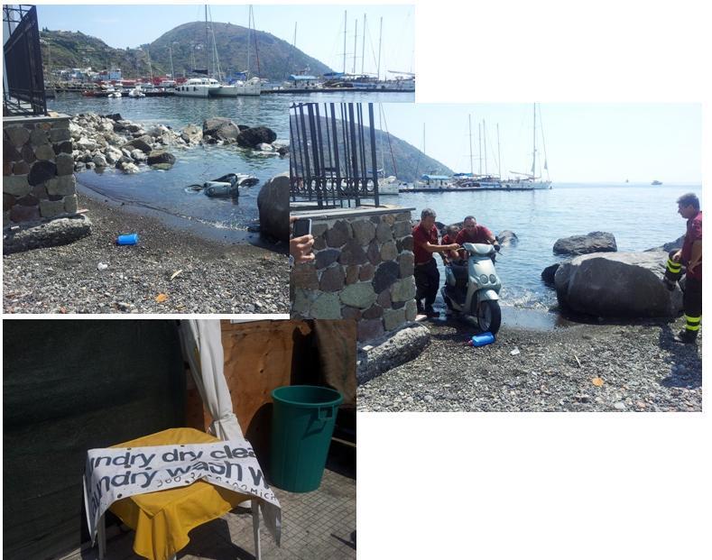 Scooter in mare recuperato dai Vigili del Fuoco