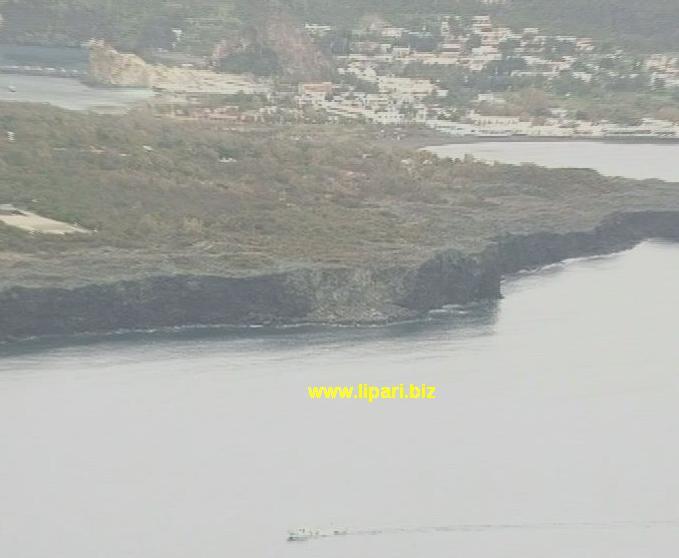 Frana sulla scogliera di Vulcanello