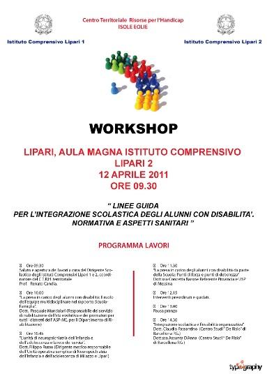 Workshop sui integrazione alunni con disabilità